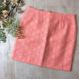 GAP Neon Pink And Cream Mini Skirt Size 2 NWT